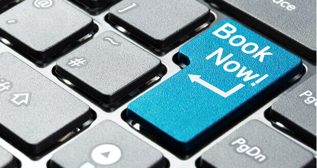 book now button on keyboard reflecting hotels desire for direct bookings