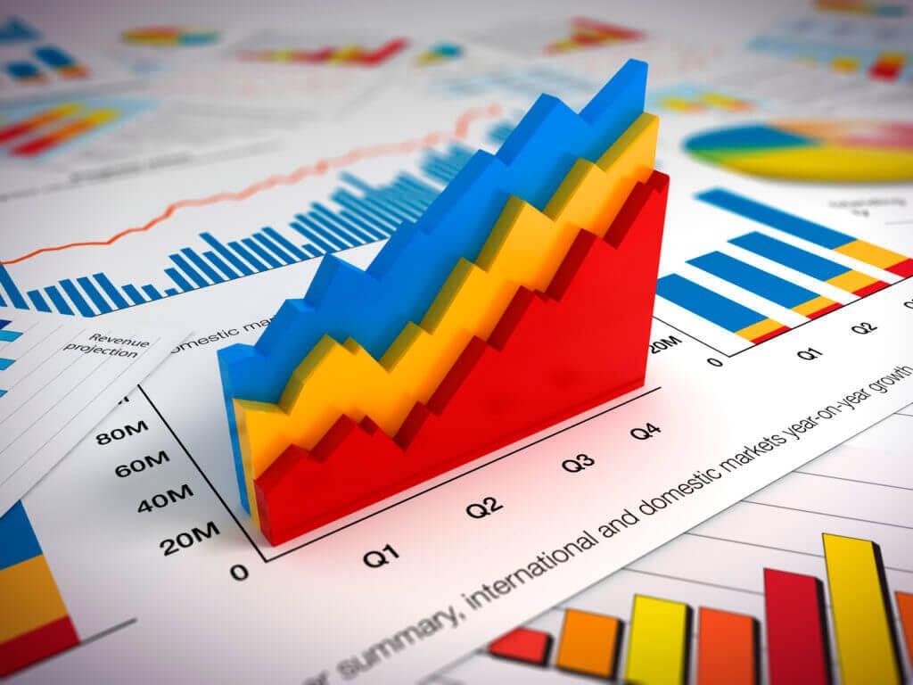 graph showing revenue trends