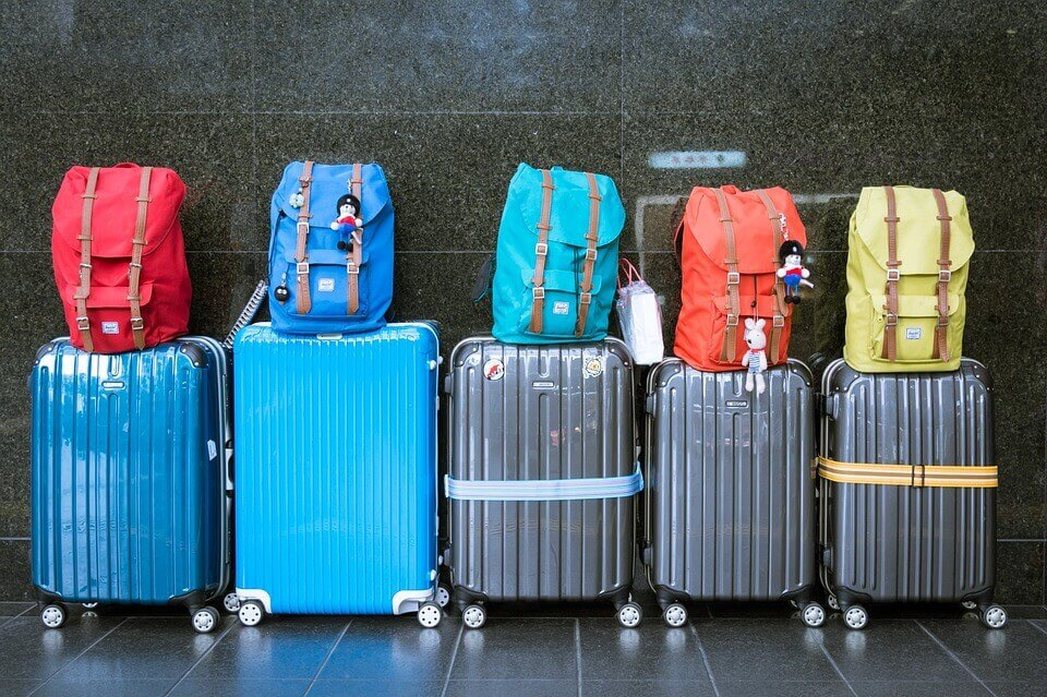suitcases in a hotel as capacity increases