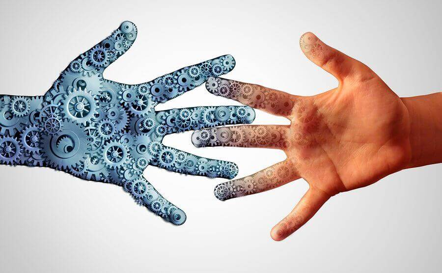 two hands reach out towards each other like the need for revenue management to connect with marketing