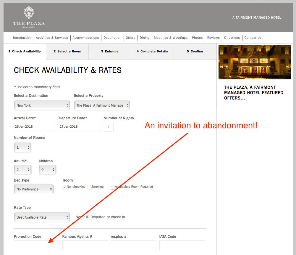 Promo Code Booking