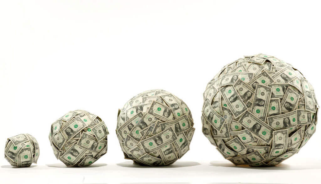 4 balls of money growing like hotel incremental revenue