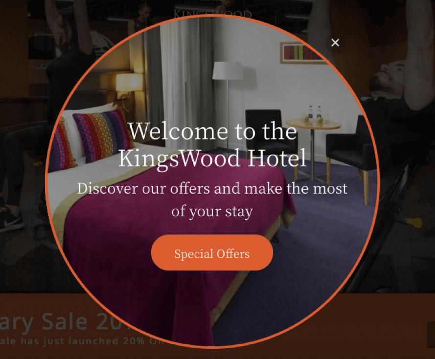kingswood hotel website welcome message