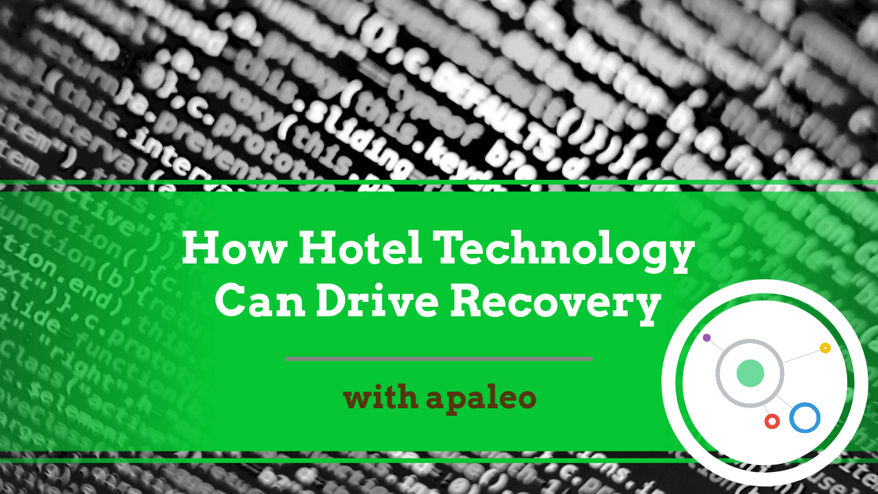 You Tube Thumbnail showing discussion with apaleo about how hotel technology can help drive recovery