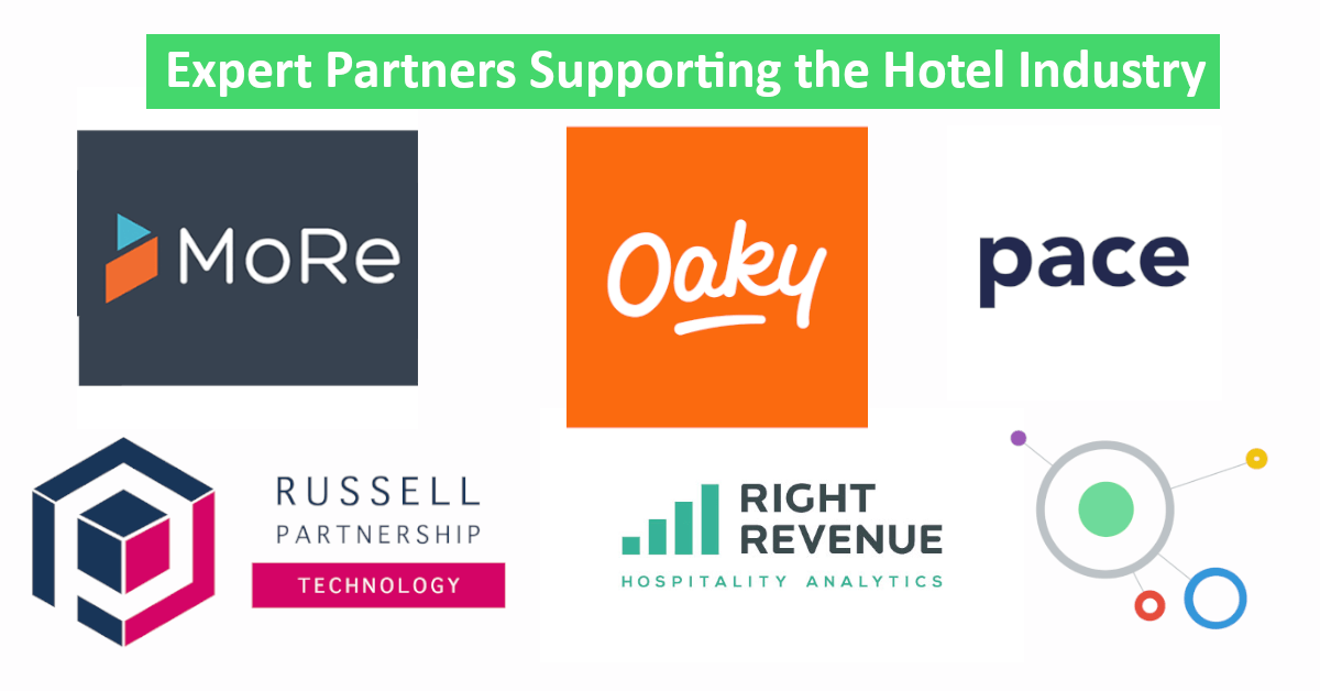 expert partner logos supporting hotel industry