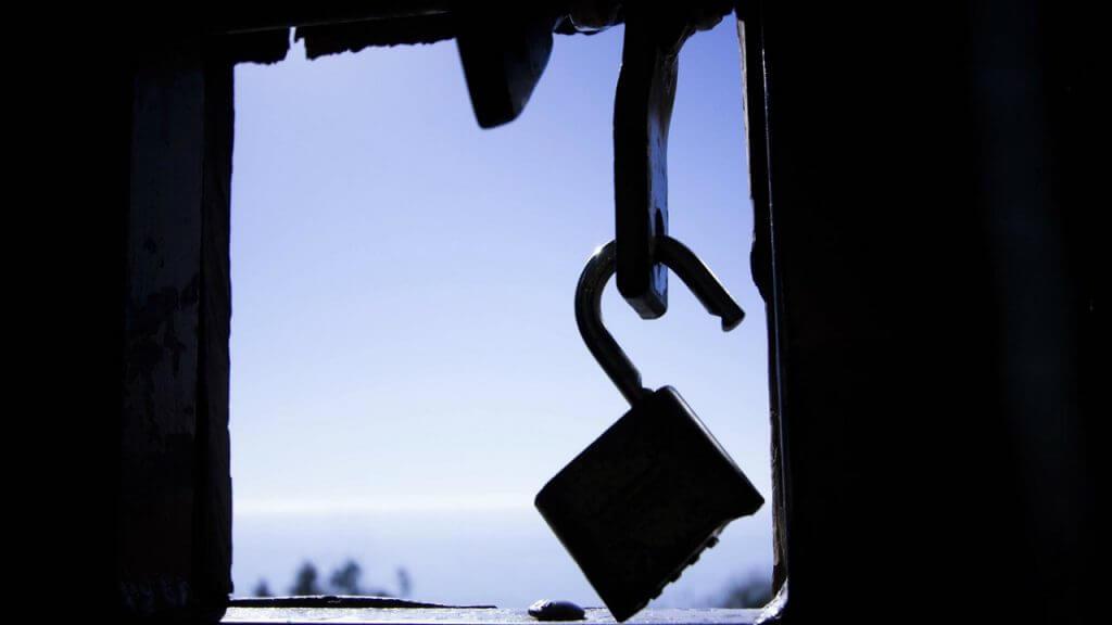 padlock unlocked as lockdown ends