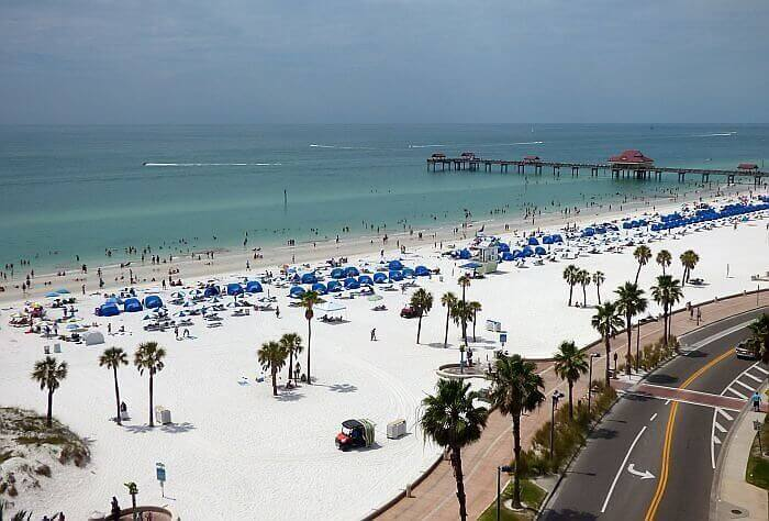 beach scene showing demand for hotels in US