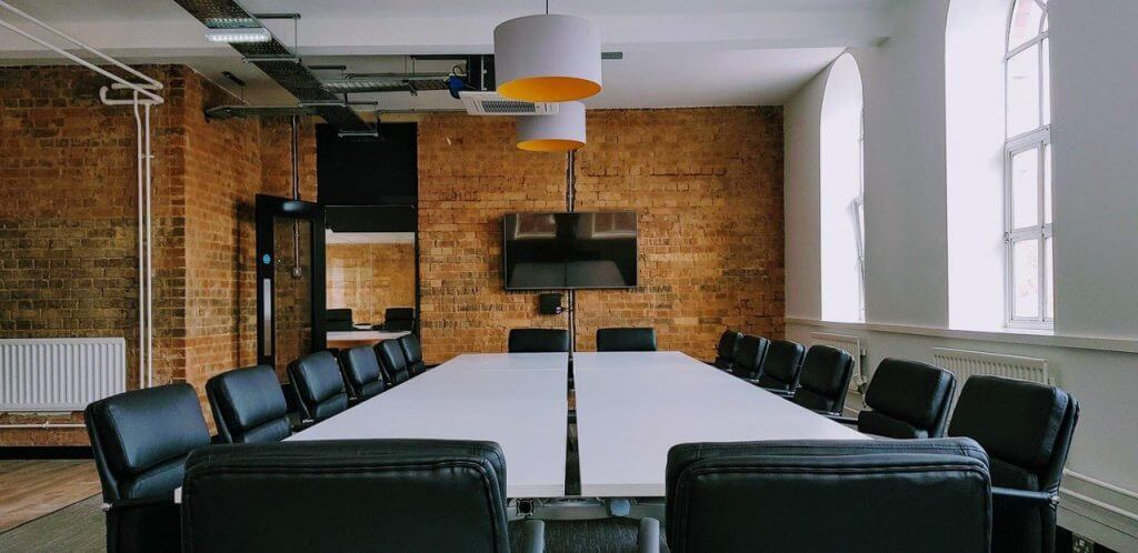 small business meeting space in office or hotel