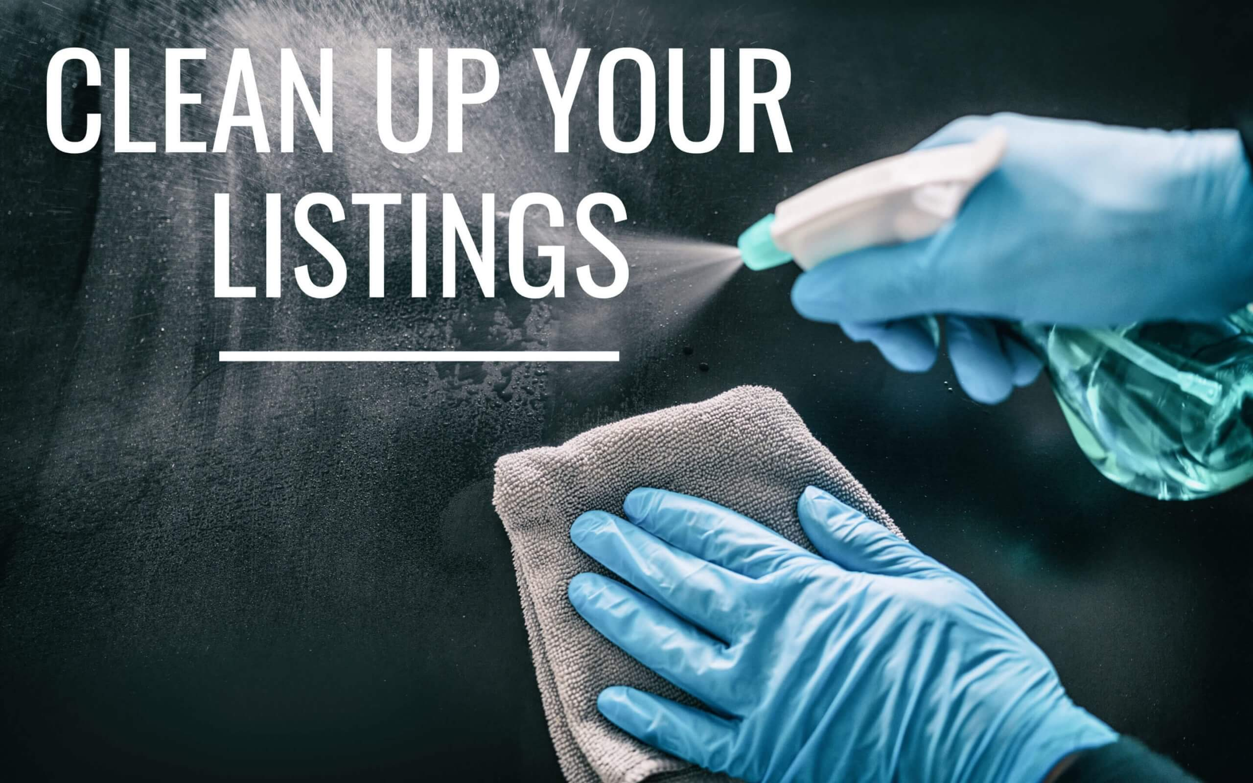 cleaning a sign saying clean up your hotel attributes on 3rd party sites