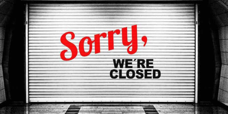 shutters closed like booking closing down rateintelligence