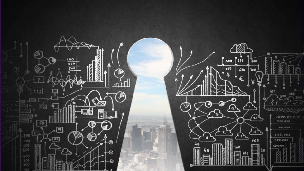 algorithms and view through a key hole indicative of revenue managers needing to look forward