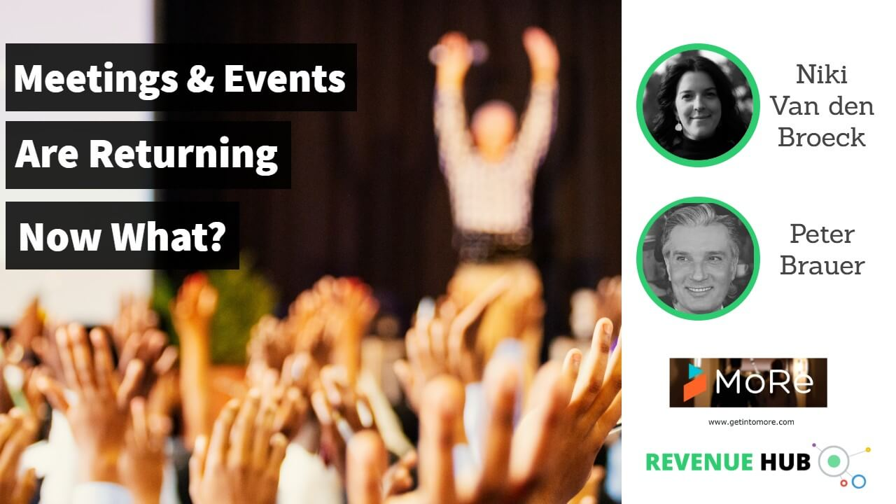 thumbnail image for revenue hub video discussion with get into more about meetings and events returning