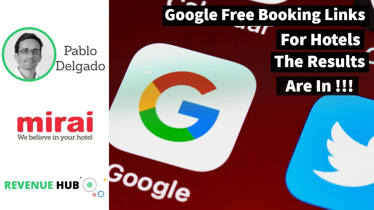 video thmbnail image for interview ith pablo delgado ceo of mirai talking about the new google free booking links for hotels
